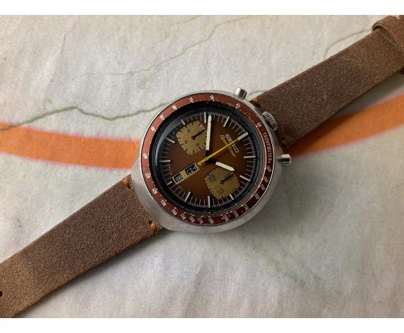 SEIKO BULLHEAD SPEEDTIMER Ref. 6138-0040 Reloj cronógrafo antiguo automático Cal 6138 B JAPAN J 1977 *** PRECIOSO ***