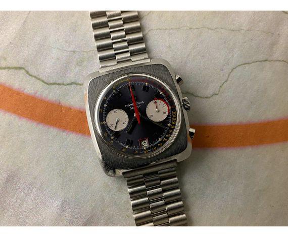 FAVRE LEUBA GENEVE Vintage hand winding chronograph watch 10 ATU Cal Valjoux 232 Ref. 31013 *** SPECTACULAR ***