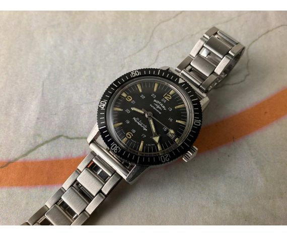ROTARY AQUAPLUNGE DIVER Vintage swiss automatic watch 60s Cal. AS 1712/13 Ref. 66 18 59 *** PRECIOUS ***