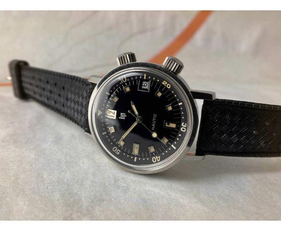 N.O.S. LIP Nautic Super Compressor 1966 Reloj antiguo de cuerda Cal R017 *** NEW OLD STOCK ***