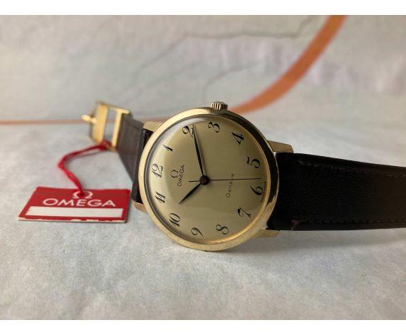 NOS OMEGA Geneve Reloj suizo antiguo de cuerda Ref 131.021 Cal 601 SOLID GOLD 18K *** MINT ***