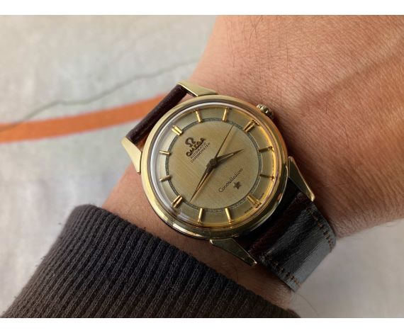 OMEGA CONSTELLATION 1959 Reloj vintage suizo automático CHRONOMETER Ref. 14381-2 Cal. 551 *** GLORIOSA PÁTINA ***