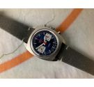 RENIS GENÈVE Vintage swiss hand windding chronograph watch Valjoux 7733 RACING STYLE *** BLUE DIAL ***