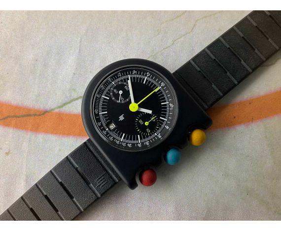 N.O.S. LIP MACH 2000 DARK MASTER Reloj Cronógrafo antiguo de cuerda Valjoux 7734 by Roger Tallon *** NUEVO DE ANTIGUO STOCK ***
