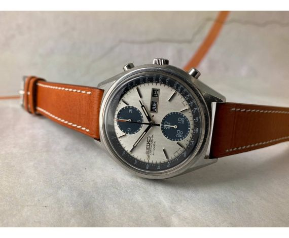 SEIKO PANDA Vintage automatic chronograph watch 1978 Ref. 6138-8021 Cal. 6138-B *** SPECTACULAR ***