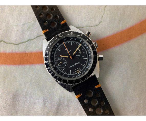 YEMA MEANGRAF SUPER Reloj cronógrafo antiguo de cuerda Cal Valjoux 7734 *** ESPECTACULAR ***