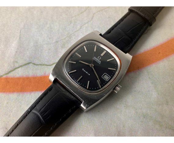 OMEGA GENÈVE automatic Reloj suizo vintage automático dial negro Cal 1012 Ref 166.0190 *** ELEGANTE ***