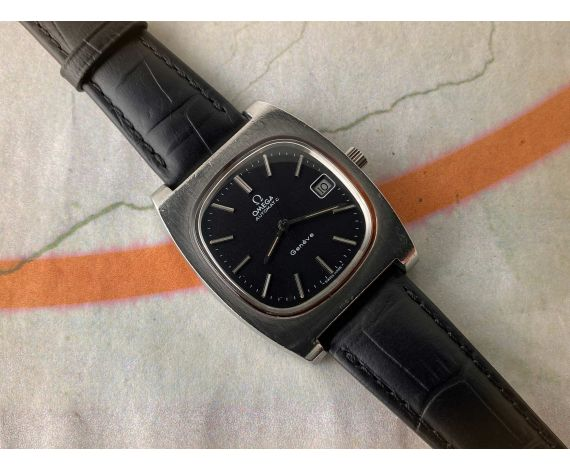 OMEGA GENÈVE Automatic Black dial vintage swiss watch Cal. 1012 Ref. 166.0190 *** ELEGANT ***