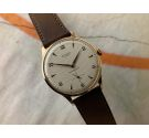 NEW OLD STOCK STUDIO Vintage hand winding swiss watch Cal Vulcain 590 OVERSIZE. Plaque OR. SPECTACULAR DIAL *** N.O.S. ***