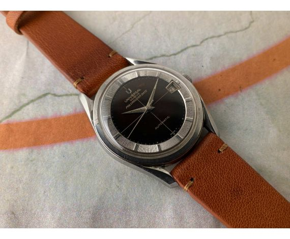 UNIVERSAL GENEVE POLEROUTER DATE Vintage automatic watch Cal. 69 MICROTOR Ref. 869111/01 *** CHOCOLATE PATINA ***
