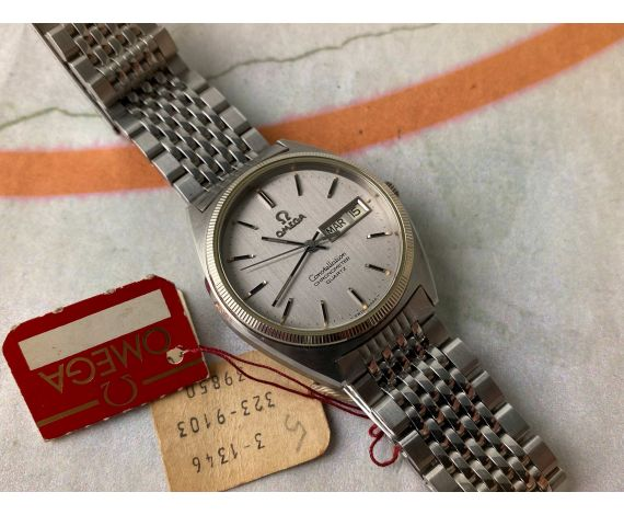N.O.S. OMEGA CONSTELLATION CHRONOMETER QUARTZ Reloj suizo antiguo de cuarzo Ref. 198.0111 Cal 1346 *** NUEVO ANTIGUO STOCK ***