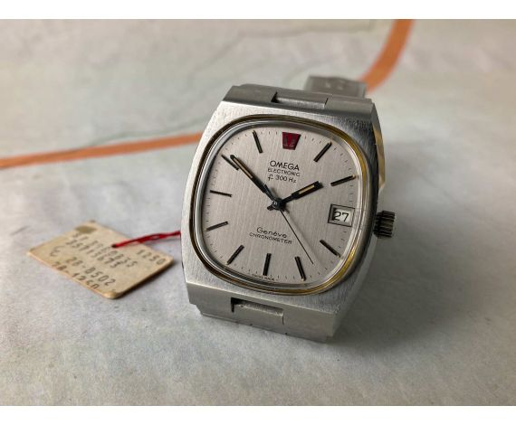 NOS OMEGA ELECTRONIC F300 HZ GENEVE CHRONOMETER Reloj suizo vintage Ref. 398.0835 Cal. 1250 *** NUEVO DE ANTIGUO STOCK ***