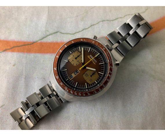 SEIKO SPEEDTIMER 1976 Reloj cronógrafo antiguo automático Cal 6138 B JAPAN J 6138-0040 BULLHEAD *** TODO ORIGINAL ***