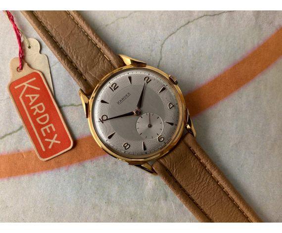 NOS KARDEX 39mm Reloj suizo vintage de cuerda OVERSIZE Plaqué OR Cal. FHF 26 *** NUEVO DE ANTIGUO STOCK ***