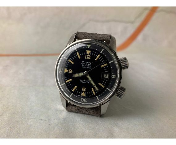 CAMY GENEVA SUPER-COMPRESSOR Reloj DIVER suizo vintage automático Cal. AS 1902/03 Ref. 35066 *** ESPECTACULAR ***