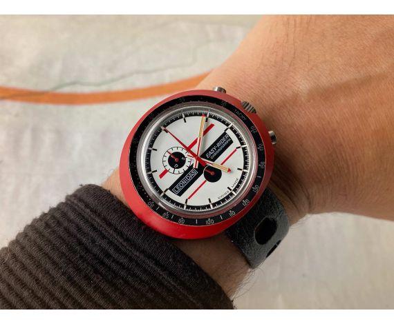 NOS HEUER LEONIDAS Easy Rider Reloj cronógrafo antiguo de cuerda Cal. EB 8420 *** NUEVO ANTIGUO STOCK ***