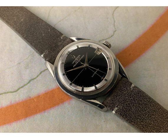 UNIVERSAL GENEVE POLEROUTER DATE Ref. 204612/2 Reloj suizo antiguo automático Cal. 218-2. GLOSSY DIAL *** ESPECTACULAR ***