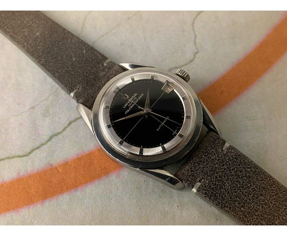UNIVERSAL GENEVE POLEROUTER DATE Ref. 204612/2 Vintage swiss automatic watch Cal. 218-2. GLOSSY DIAL *** SPECTACULAR ***