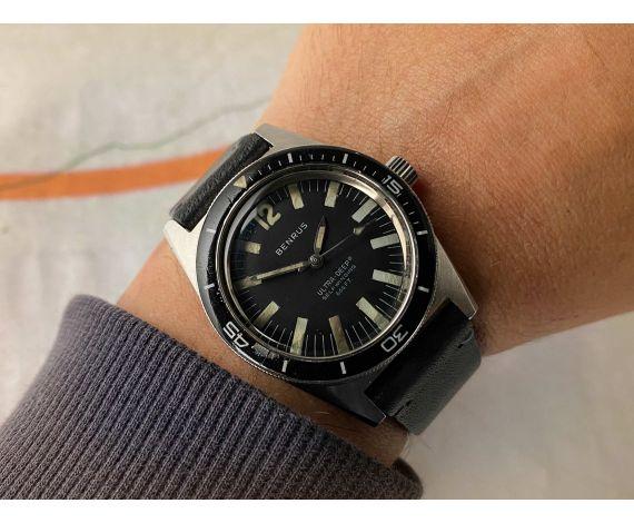 BENRUS ULTRA-DEEP 666FT 200M Reloj suizo vintage automático DIVER Cal. ETA 2452 Ref. 6088 *** COLECCIONISTAS ***