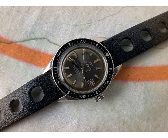 WALTHAM BATHYSCAPHE CENTENNIAL (BLANCPAIN) Reloj DIVER suizo antiguo automático 37 mm *** ICÓNICO ***