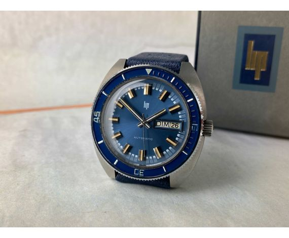 N.O.S. LIP Vintage Diver Automatic Watch 20 ATM Cal. LIP R574 OVERSIZE *** NEW OLD STOCK ***
