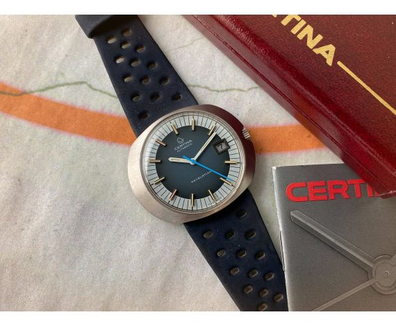 N.O.S. CERTINA REVELATION Ref. 5801-185 Reloj suizo antiguo automático Cal. 25.651 + ESTUCHE *** NUEVO DE ANTIGUO STOCK ***