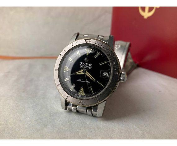 ZODIAC SEA WOLF DIVER Reloj suizo vintage automático 20 ATM Cal. 70-72 Ref. 722-916 + ESTUCHE *** COLECCIONISTAS ***
