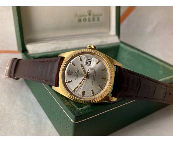 ROLEX OYSTER PERPETUAL DATEJUST Ref. 1601 Reloj Vintage suizo automático 1966 Cal. 1570 Oro Amarillo 18K *** COLECCIONISTAS ***