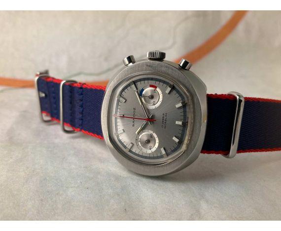 SANDOZ Reloj cronógrafo suizo vintage de cuerda Cal. Valjoux 7733 Ref. 1813Z - 69 *** OVERSIZE ***