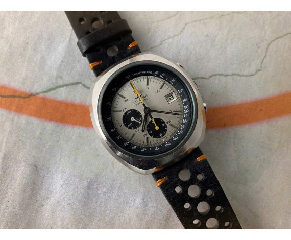 DUGENA Reloj vintage suizo cronógrafo automático 1972 Ref. 9801A Cal. Dugena 4800 (Lemania 1340) *** OVERSIZE ***