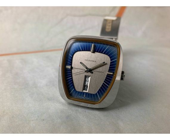 FESTINA COMPRESSOR NOS Vintage swiss automatic watch Cal. ETA 2836 Ref. 344.201 *** NEW OLD STOCK ***