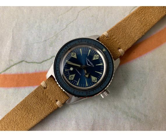 LOENGRIN DIVER vintage swiss automatic watch Cal. AS 1902/03 BAQUELLITE BEZEL. Threaded Crown with Helium Valve *** OVERSIZE ***
