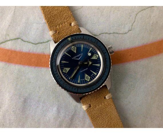 LOENGRIN Reloj DIVER suizo vintage automático Cal. AS 1902 BISEL BAQUELITA. Corona roscada con Válvula de Helio *** OVERSIZE ***