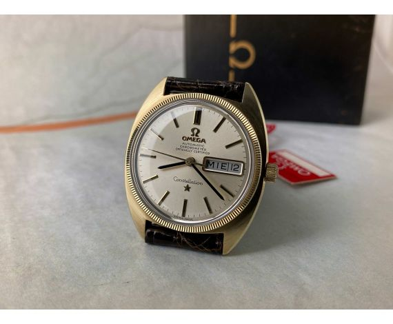 OMEGA CONSTELLATION Chronometer Officially Certified Reloj vintage suizo automático Cal. 751 Ref. 168.029 Plaque OR *** MINT ***