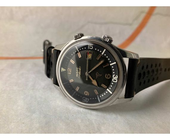 MULCO ESCAFANDRA SUPER COMPRESSOR Reloj DIVER suizo antiguo automático Ref. 250-202 Cal. AS 1700/01 *** COLECCIONISTAS ***