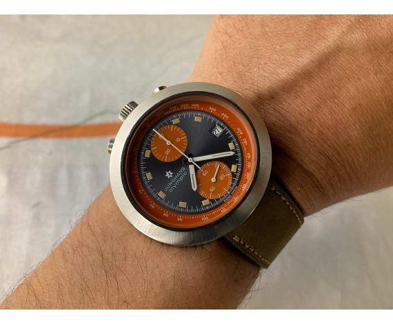 JUNGHANS OLYMPIC BULLHEAD Reloj Cronografo antiguo de cuerda Cal. Valjoux 7734 Ref. 688.10 *** IMPRESIONANTE ***