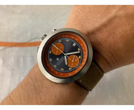 JUNGHANS OLYMPIC BULLHEAD Vintage swiss hand winding chronograph watch Cal. Valjoux 7734 Ref. 688.10 *** AWESOME ***
