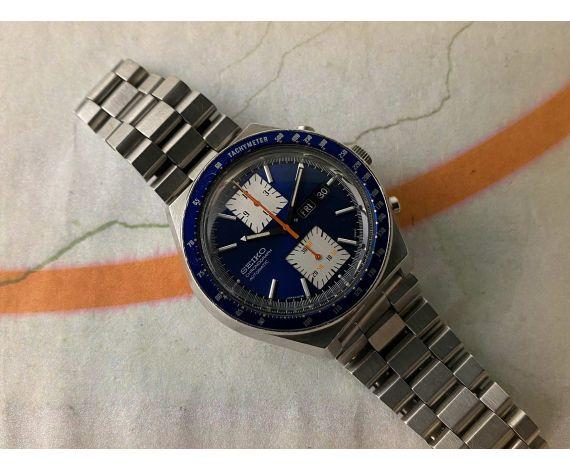 SEIKO KAKUME Reloj cronógrafo vintage automático Ref. 6138-0030 Cal. 6138 B Brazalete STELUX *** ESPECTACULAR ***