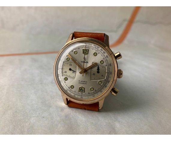 YEMA Reloj vintage de cuerda cronógrafo Cal. Valjoux 92 *** COLECCIONISTAS ***