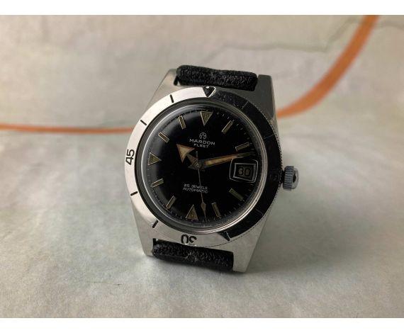 MARDON FLEET Reloj DIVER suizo vintage automático Cal. AS 1700-01 BROAD ARROW *** GLOSSY DIAL ***