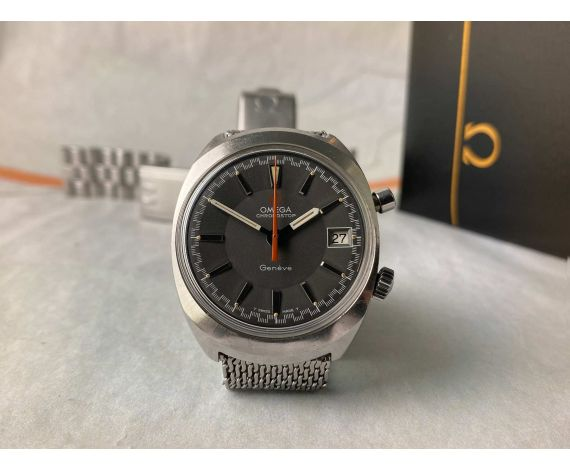 OMEGA CHRONOSTOP Reloj suizo vintage cronógrafo de cuerda Ref 146.009/146.010 Cal 920 + Estuche *** DOBLE BRAZALETE ***