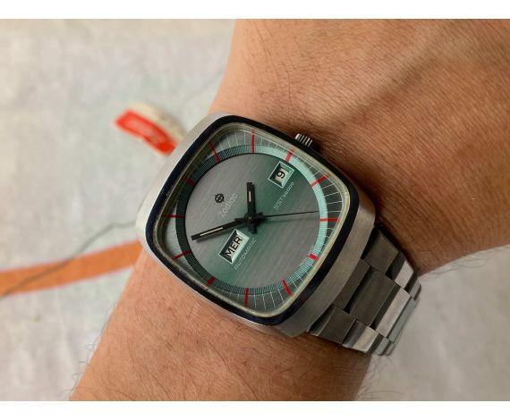 NOS ZODIAC AUTOMATIC SST 36000 Reloj suizo antiguo automático Cal. 86 IMPRESIONANTE *** NUEVO DE ANTIGUO STOCK ***