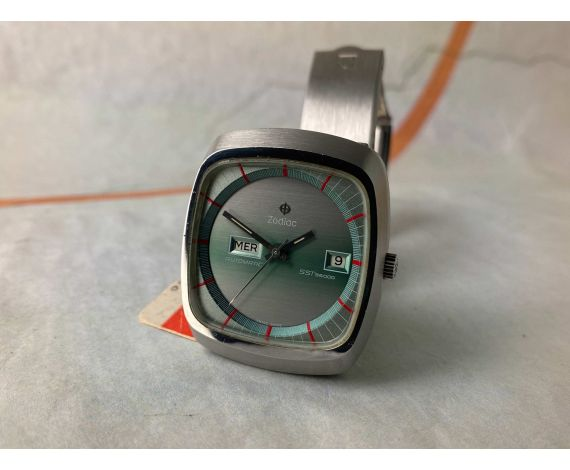 NOS ZODIAC AUTOMATIC SST 36000 Vintage swiss automatic watch Cal. 86 AWESOME *** NEW OLD STOCK ***