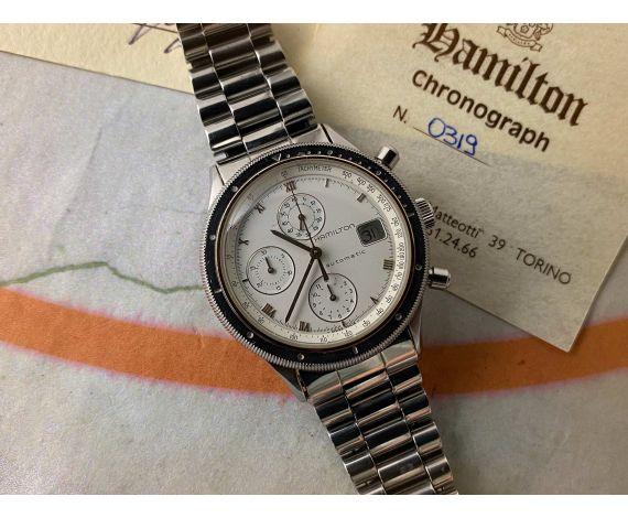 HAMILTON HTC Ref 1898/3 vintage swiss automatic chronograph watch Chrono-Matic 40 JEWELS Lemania LWO 283 *** RARE EDITION ***