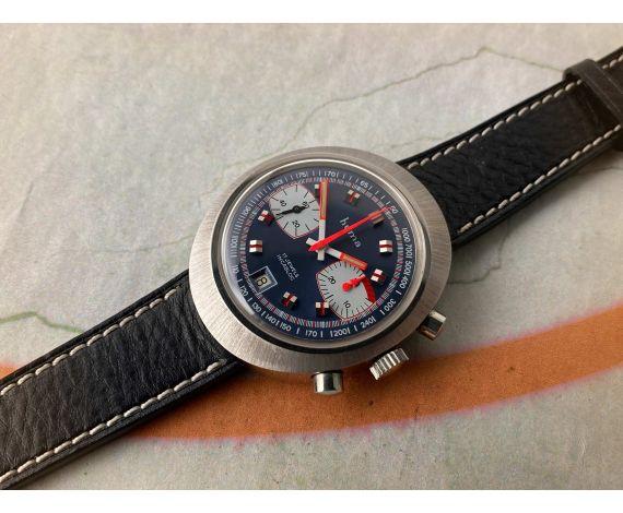 NOS HUMA Reloj Cronografo antiguo de cuerda Cal Valjoux 7734 IMPRESIONANTE *** NUEVO DE ANTIGUO STOCK ***
