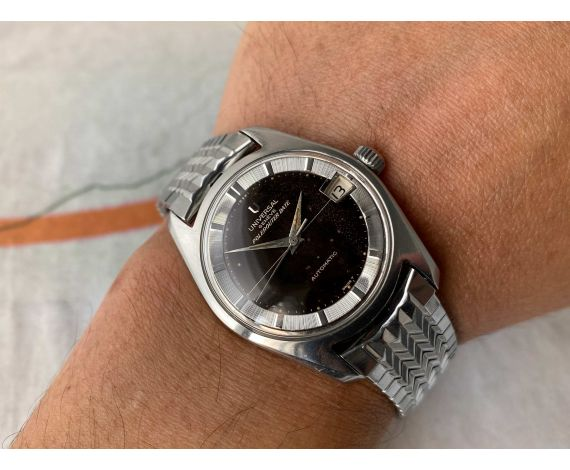 UNIVERSAL GENEVE POLEROUTER DATE Ref. 869113/01 Reloj suizo antiguo automático Cal. 69 *** DIAL TROPICALIZADO ***
