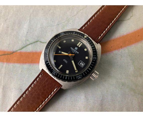 AQUASTAR GENÈVE SA ATOLL Reloj DIVER suizo antiguo automático Cal. AS 2063 CORONA ROSCADA *** COLECCIONISTAS ***