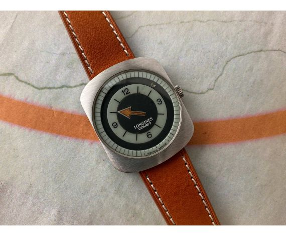 LONGINES COMET Reloj suizo vintage de cuerda Cal. 702 Ref. 8475 DIAL MISTERIOSO *** EXTRACTO DE ARCHIVOS ***