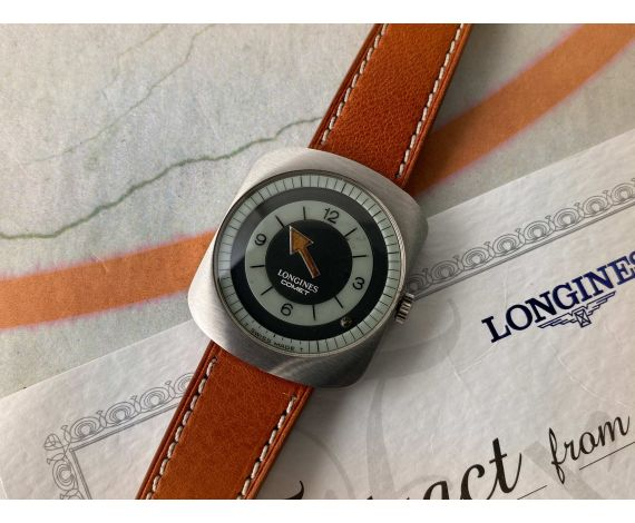 LONGINES COMET Vintage swiss hand winding watch Cal. 702 Ref. 8475 MYSTERIOUS DIAL *** EXTRACT FROM THE ARCHIVES ***