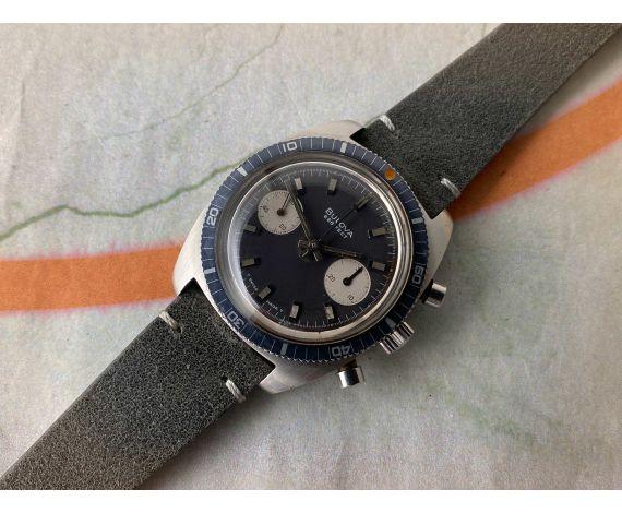 BULOVA DEEP SEA 666 FEET Reloj suizo Cronógrafo antiguo de cuerda Cal. 14 EB (Valjoux 7733) *** PANDA REVERSO ***
